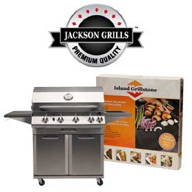 Jackson Grills BBQ Grill and Logo