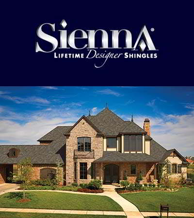 GAF Sienna Aged Oak Shingles Home