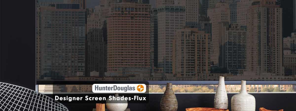 Hunter Douglas Designer Screen Shades Blinds-Flux Onyx Color