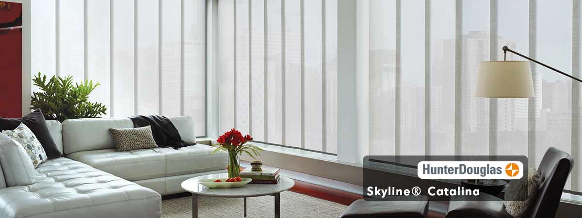 Hunter Douglas Skyline Catalina Blinds-Oyster Shell Color