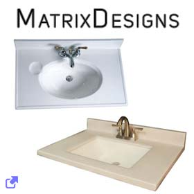 Matrix Designs Vanity Tops