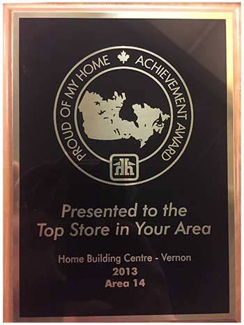 2013 Home Building Centre - Top Store Award