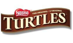 Nestles Turtles Chocolates Banner Logo