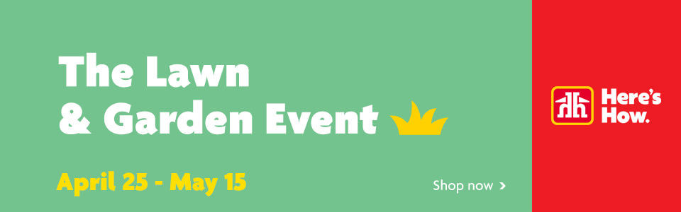 Lawn Garden Event Banner - April25 - May15