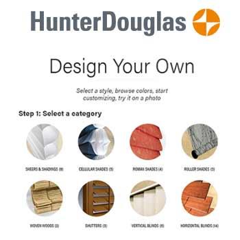 Hunter Douglas - Screenshot - Design It Yourself Website