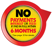 No Interest or Payments for 6 Months Logo 1