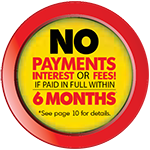 No Interest or Payments for 6 Months Logo 2