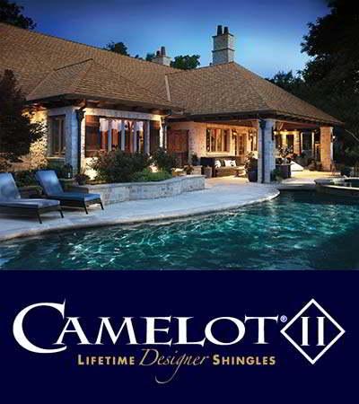 GAF Camelot II Barkwood Shingles Roof Home