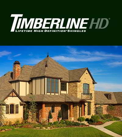 GAF Timberline HD Weathered Wood Singles Home