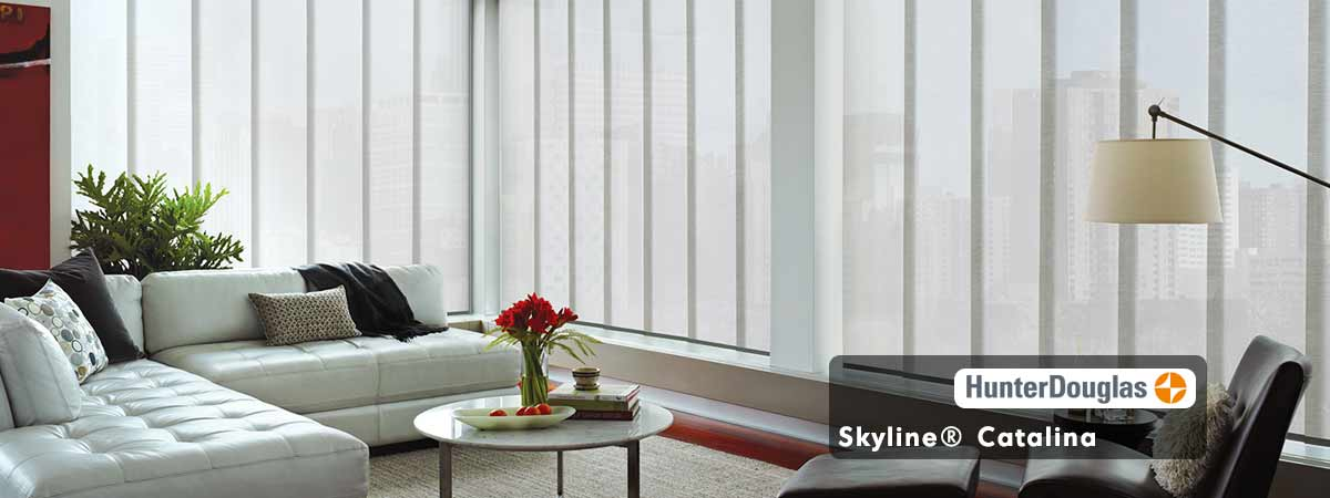 Hunter Douglas Skyline Catalina Blinds-Oyster Shell Color