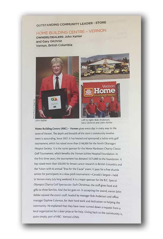 2012 Community Leader Award (BSIA-BC) Magazine - Image 1