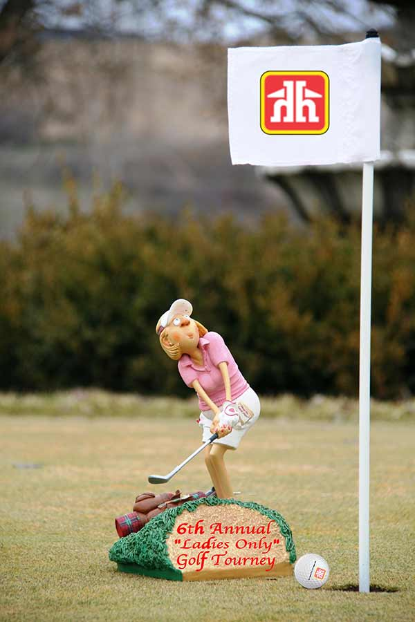 Hospice - Home Building Centre Community Golf-Lady Golfer Statute