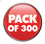 Pack Of 300 Red Spot Icon Small