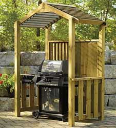 BBQ Shelter Spring DIY