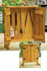 BBQ Tool Cabinet Spring DIY