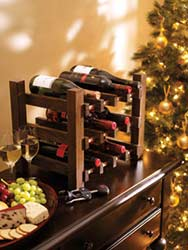 Vintage Wine Rack Winter DIY