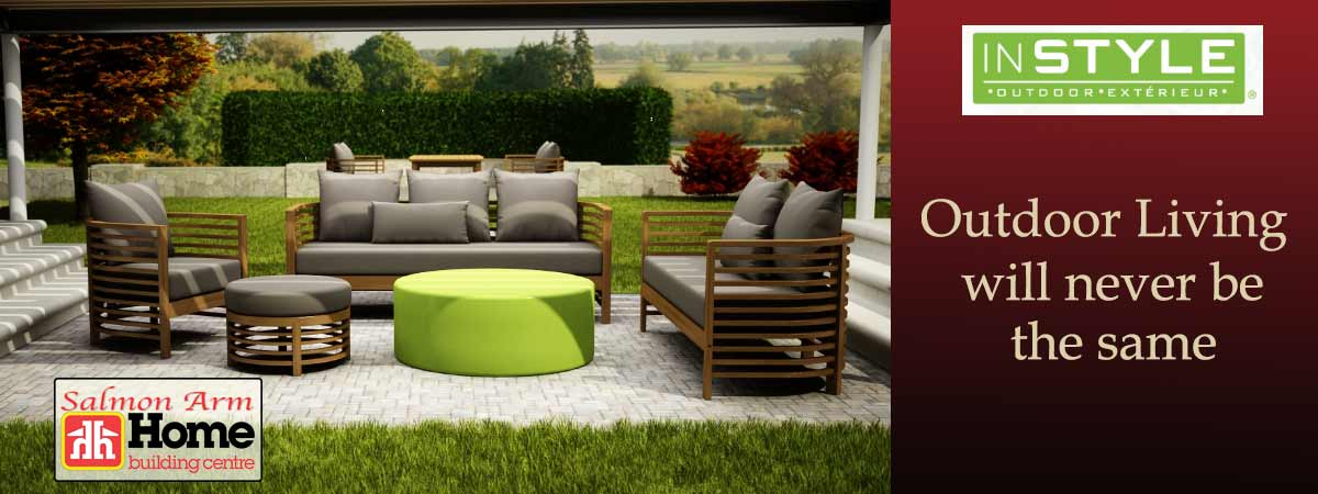 HBC Salmon Arm Instyle Outdoor Living Furniture Banner