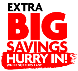 Extra Big Savings - Hurry in logo