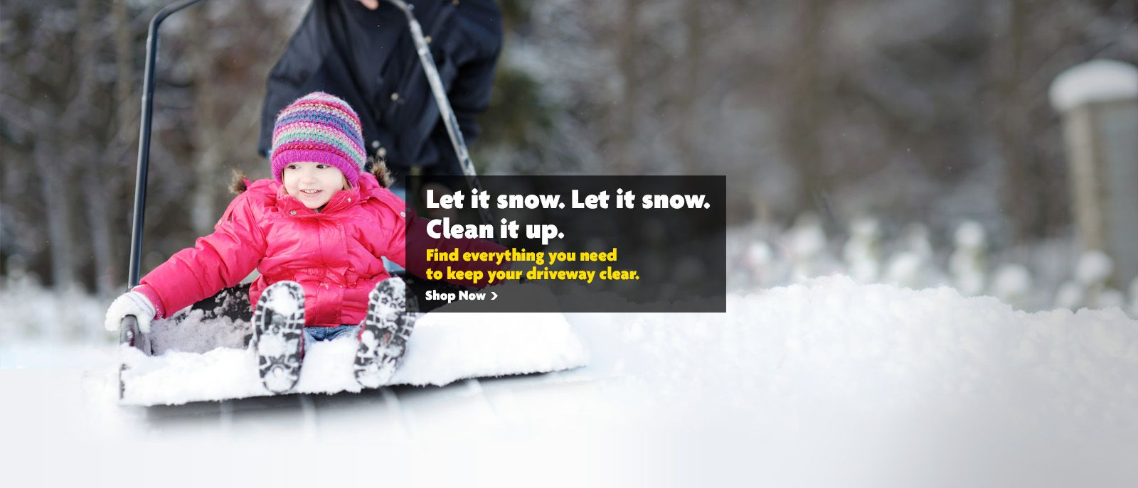 Let It Snow Clean It Up Banner